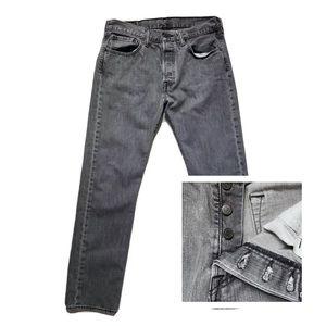 Levi's Gray Button Fly Jeans 32 x 32 Men's